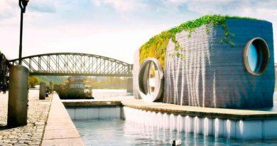 """Ekologiczny dom na wodzie wydrukowany w 3D. Jego """"budowa"""" zajmuje tylko 48h"""