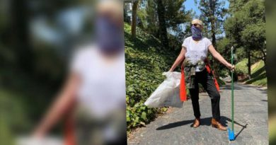 Gwiazda posprzątała śmieci po niechlujnych sąsiadach