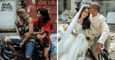 Właściciel salonu zafundował bezdomnej parze ślub, po 24 latach związku