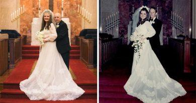 Para odtworzyła swoje zdjęcia ślubne po 50 latach małżeństwa