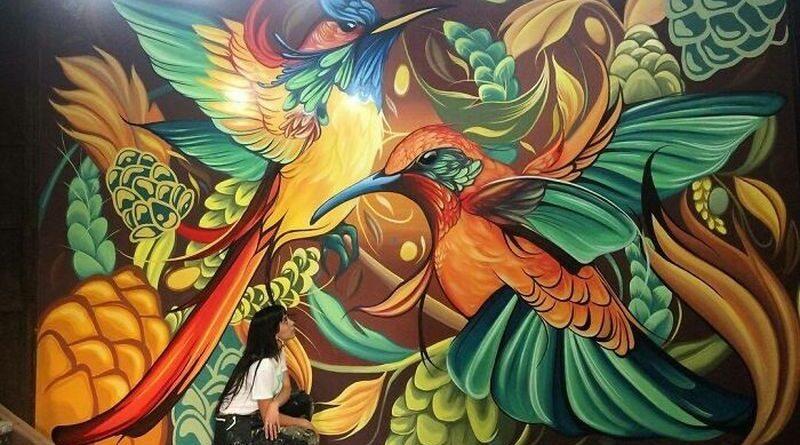 pięknymi muralami