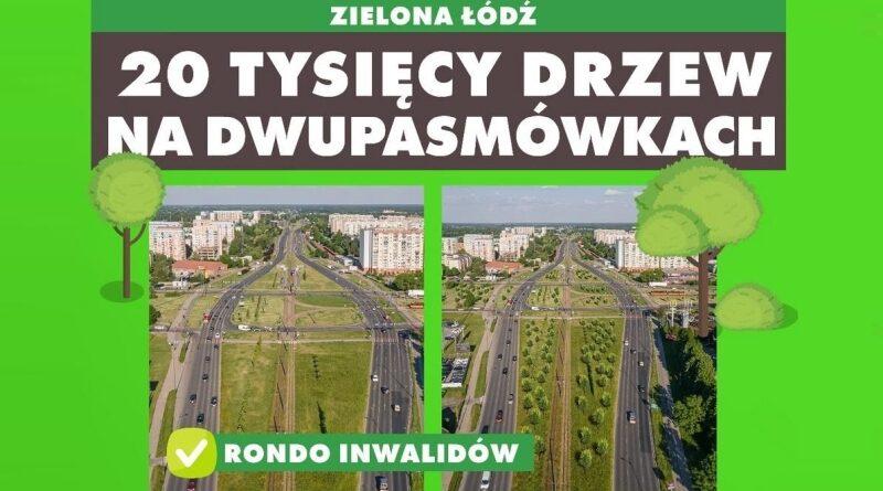 Łódź posadzi 20 tys. drzew przy głównych drogach