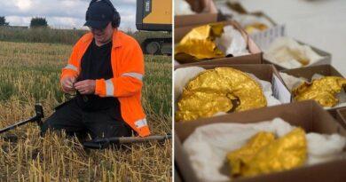 Znalazł w ziemi kilogram złota