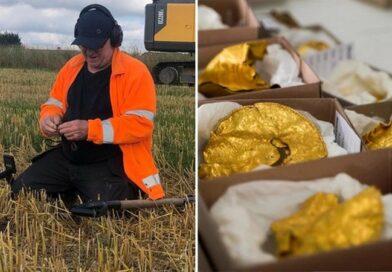Znalazł w ziemi kilogram złota sprzed 1500 lat